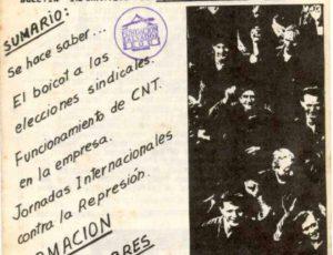 Boletin Informativo de CNT Maquinista
